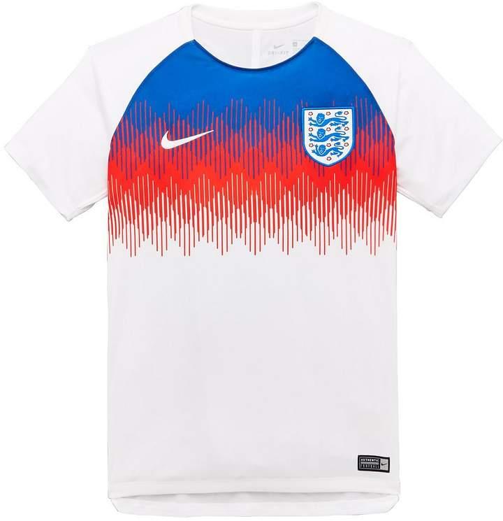 Junior England Pre Match Short Sleeve Training Top