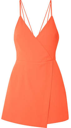 Alice + Olivia Emery Draped Crepe Playsuit - Orange