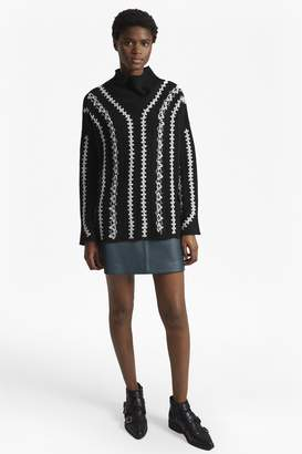 French Connection Ella Embroidered Wool Blend Jumper