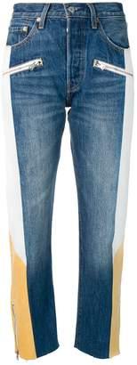 Levi's colour block slim fit jeans