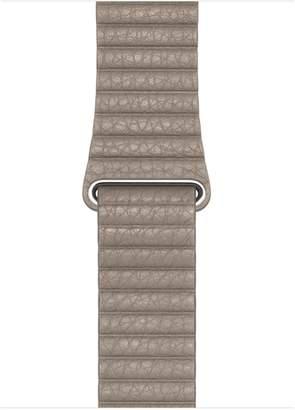 Apple 44mm Stone Leather Loop - Medium