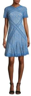 Tadashi Shoji Lace Crewneck Fit-&-Flare Dress