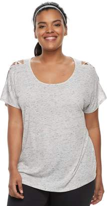 Tek Gear Plus Size Cold-Shoulder Top
