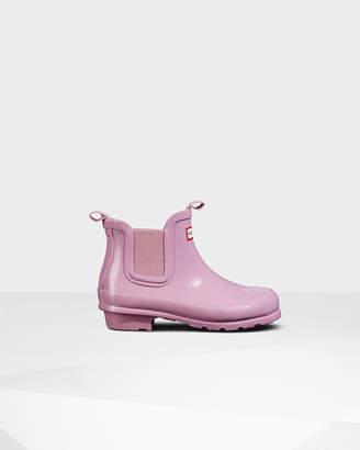 Hunter Kids' Gloss Chelsea Boots