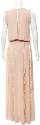 Alexis Ruffled Maxi Dress Beige Ruffled Maxi Dress