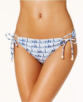 Jessica Simpson Tie-Dyed Side-Tie Reversible Bikini Bottoms Women's Swimsuit