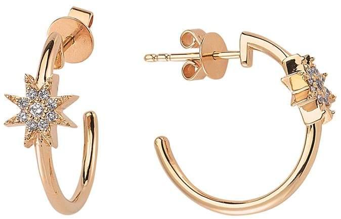 Bee Goddess Venus Star Diamond Earrings