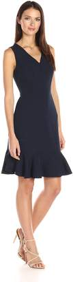 Nanette Lepore Nanette Women's Sleeveless Dress Flounce Hem