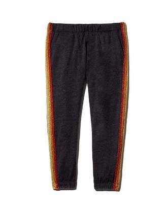 Spiritual Gangster Girls' Rainbow-Striped Ankle Sweatpants - Little Kid, Big Kid