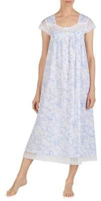 Eileen West Floral Ballet Cotton Nightgown 175d53f73