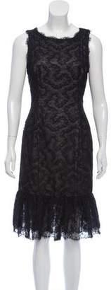 Oscar de la Renta Sleeveless Lace Dress