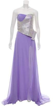 Jovani Embellished Strapless Dress