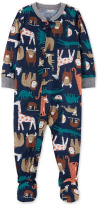 Carter's Carter Baby Boys 1-Pc. Animal-Print Pajama