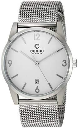 Obaku Men's Analog-Quartz Watch with Stainless-Steel Strap