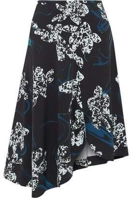 Cédric Charlier Asymmetric Printed Ponte Skirt