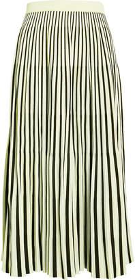 Proenza Schouler Jacquard Striped Pleated Midi Skirt