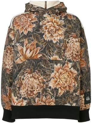 Y-3 oversized floral hoodie