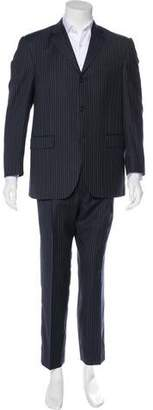 Burberry Pinstriped Two-Piece Suit