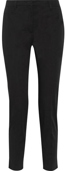 Prada - Stretch-cotton Gabardine Slim-leg Pants - Black