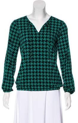MICHAEL Michael Kors Printed Long Sleeve Top w/ Tags