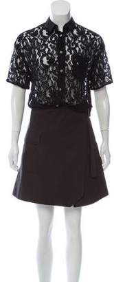 Sacai Luck Lace Button-Up Dress
