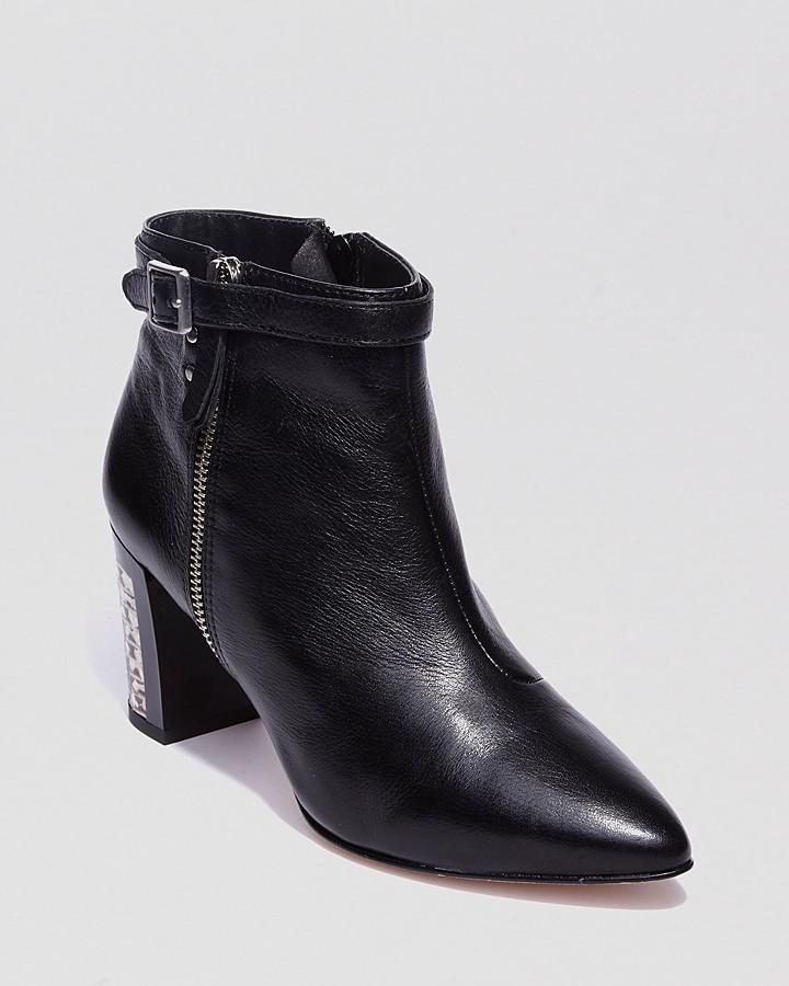 Dolce Vita Pointed Toe Booties - Quid Mid Heel