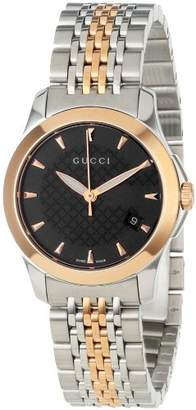 Gucci Women's YA126512 timeless Steel and Pink PVD Dial Watch