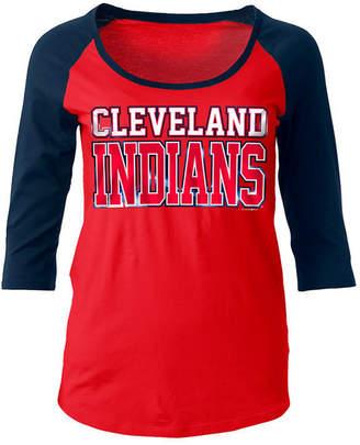5th & Ocean Women's Cleveland Indians Plus Raglan T-shirt
