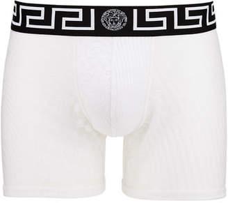 Versace Men's Long Mesh Boxer Briefs