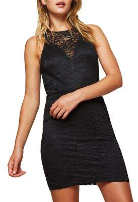 Miss Selfridge Lace Back-Cutout Dress