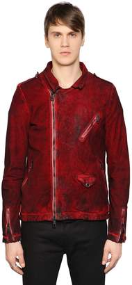 Giorgio Brato Washed Reverse Leather Jacket