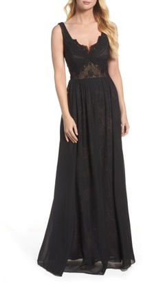 Women's Vera Wang Lace Detail Gown $398 thestylecure.com