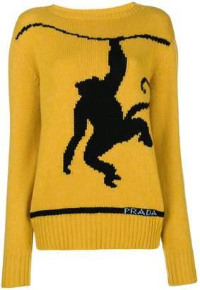 Prada intarsia monkey jumper