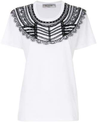 Valentino lace bib T-shirt
