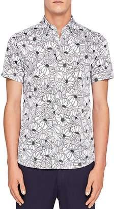 Ted Baker Marka Oversized Floral Regular Fit Button-Down Shirt
