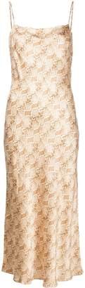 Bec & Bridge python-print slip dress
