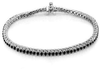 Black Diamond Roberto Demeglio 18k Solid White Gold & Tennis Bracelet