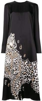 Krizia printed leopard maxi dress