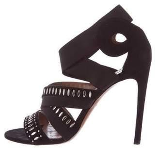 Alaia Embellished Multistrap Sandals