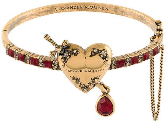 Alexander McQueenAlexander McQueen heart locket bracelet