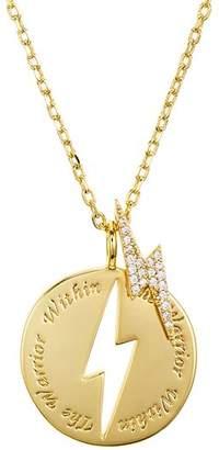 "Lulu DK Warrior Cutout Necklace, 16"""