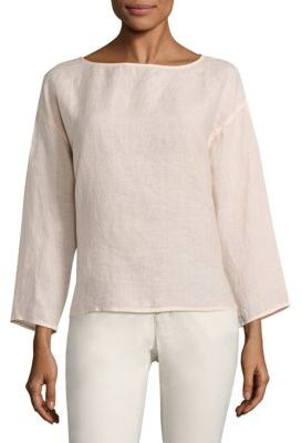 Eileen Fisher Organic Linen Box Top $188 thestylecure.com