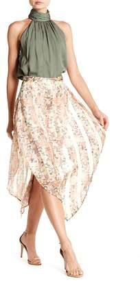 Haute Hippie Anastasia Floral Print Metallic Skirt