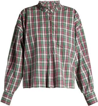 Etoile Isabel Marant Olena ruffled-collar check shirt