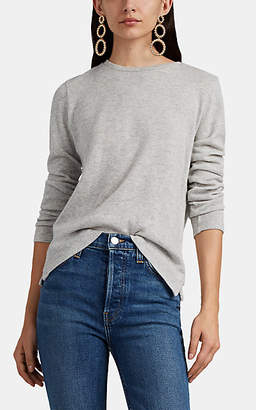 Barneys New York Women's Mélange Cashmere-Cotton Long-Sleeve T-Shirt - Light Gray
