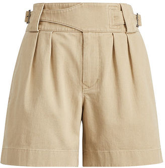 Polo Ralph Lauren Pleated Twill High-Rise Short $145 thestylecure.com