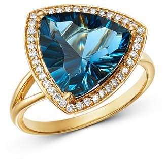 Bloomingdale's London Blue Topaz & Diamond Statement Ring in 14K Yellow Gold - 100% Exclusive