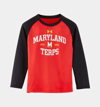 Under Armour Boys' Pre-School Maryland UA Arch Logo Raglan Long Sleeve Shirt