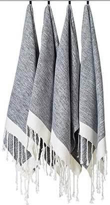 """3.1 Phillip Lim [SET OF 4] Unique Turkish Cotton Peshtemals & Towels - Size (20"""" x Travel"""