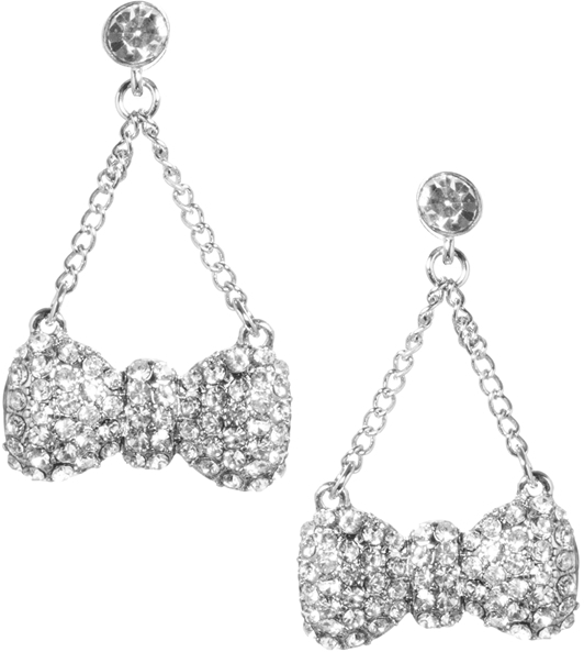 Talullah Tu Bow Crystal Chain Earrings